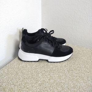 Michael Michael Kors Black Leather Sneakers
